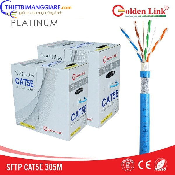 Cáp mạng Cat5E Golden Link SFTP Platinum