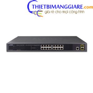 Switch chia mạng PLANET GS-4210-16T2S 16 port