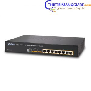 Switch chia mạng PLANET 8-port PoE GSD-808HP