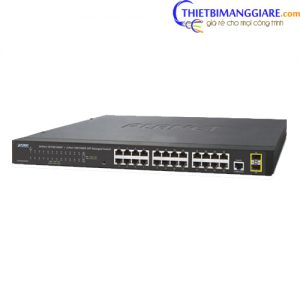 Switch chia mạng PLANET WGSW-28040 24-port + 4-port Gigabit TP/SFP